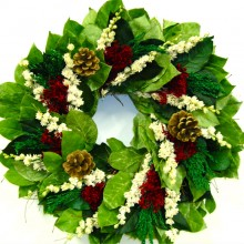 Christmas Larkspur Wreath