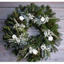 Fresh White Christmas Wreath