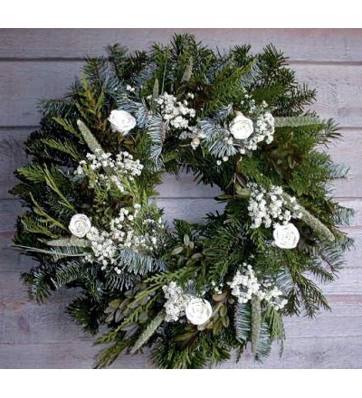 Fresh White Christmas Wreath