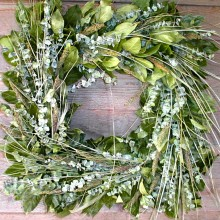 Cool Green Square Wreath