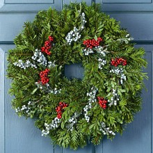 Fresh Christmas Juniper Berry Wreath