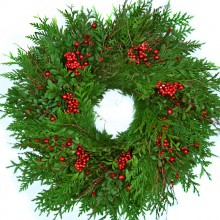 Fresh Christmas Red Berry Wreath