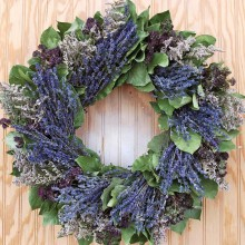 Lavender and Lemon Leaf Wreath