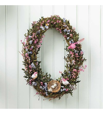 Oval Bird Wreath