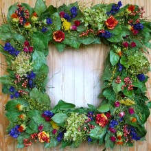 Provence Square Wreath