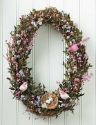 Oval Bird Wreath 24""