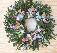 Boxwood and Butterfly Wreath